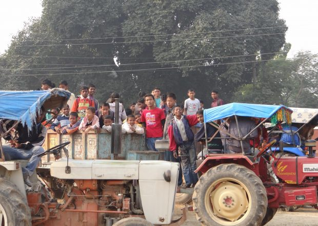 Tractor at Anand Niwas